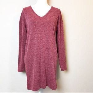 Zara Heather Red Long Sweater Knit Dress Size S